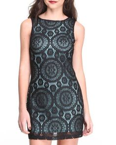 Love this Lace Overlay Sheath on DrJays and only for $12.99. Take a look and get 20% off your next order! Exclusions apply.