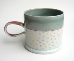 Hey, I found this really awesome Etsy listing at http://www.etsy.com/listing/155232714/made-to-order-gold-polka-dot-porcelain