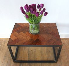 Upcycled Parquet floor coffee table by ruby rhino | notonthehighstreet.com