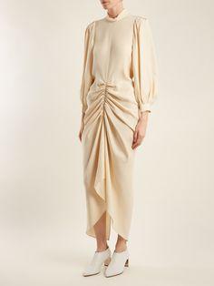 Fay ruched silk-crepe dress | Joseph | MATCHESFASHION.COM