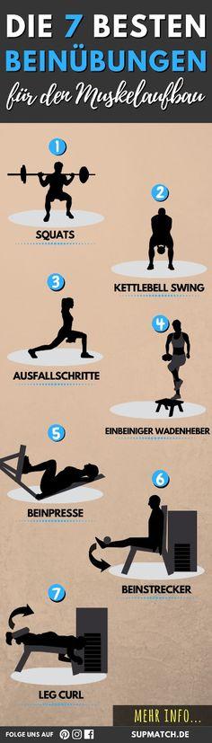 Die 7 besten Beinübungen für den Muskelaufbau.