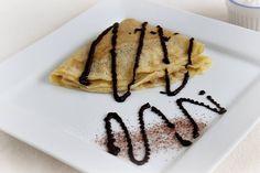 Gundel palacsinta csokiöntettel / Gundel pancake with chocolate sauce Waffles, Pancakes, Recipies, Brunch, Mille Crepe, Favorite Recipes, Meals, Chocolate, My Favorite Things