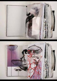 Creative fashion sketchbook by Ania Leike - The Book Design Blog