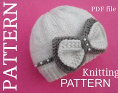 Knitting PATTERN Baby Hat Baby Beanie Knitted Baby Cap Pattern for Babies Infant Girl Knitting PATTERN Only in English PDF Knitting , lace processing is one of the most beautiful hobbies that women are not able to give up. Baby Hat Knitting Pattern, Baby Hats Knitting, Knitting For Kids, Knitting Projects, Knitted Hats, Beanie Pattern, Baby Girl Hats, Girl With Hat, Baby Girls