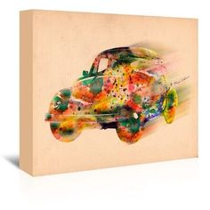 "East Urban Home Wallpaper 8 by Mark Ashkenazi Graphic Art on Wrapped Canvas Size: 20"" H x 24"" W x 1.75"" D"