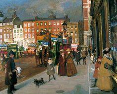 Knightsbridge from Sloane Street, London (Fine December Morning) - (1903/1913) - Jacques- Emile Blanche