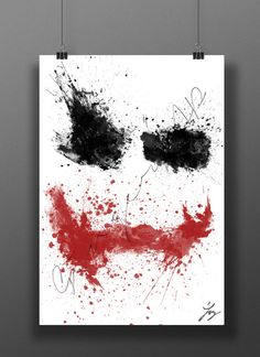 Clown Prince of Crime // Abstract Digital Painting // by GingerZAP