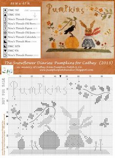 The Snowflower Diaries: Pumpkins for Cathey (2013)