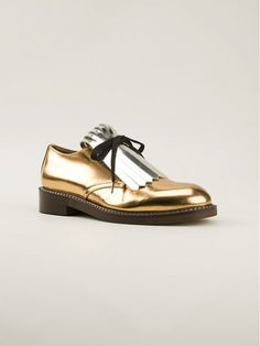 Tip of the Day: What to Wear With Metallic Flats via @WhoWhatWear