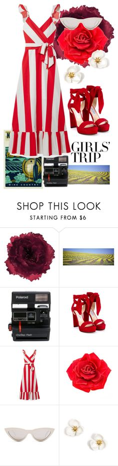 """""""fine like wine"""" by bkrasniqi ❤ liked on Polyvore featuring Accessorize, Polaroid, Jimmy Choo, Alice + Olivia, Johnny Loves Rosie, CÉLINE, girlstrip and WineTastingOutfit"""