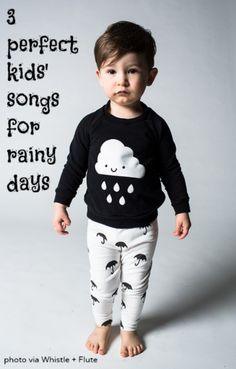 3 of our favorite rainy day songs for kids from artists like the Verve Pipe and Caspar Babypants.
