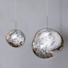 Magical Modern Irregular Glass Ball Metal Single Light Large Mirror Pendant Light in Chrome Hall Lighting, Living Room Lighting, Pendant Lighting, Pendant Lamps, Ceiling Art, Translucent Glass, Small Mirrors, Modern Pendant Light, Mirror With Lights