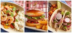 First look at the New Offerings at ABC Commissary in Hollywood Studios Hollywood Studios, In Hollywood, Salmon Burgers, Hamburger, Menu, Ethnic Recipes, Food, Menu Board Design, Salmon Patties