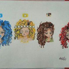 Social Media Drawing Hair
