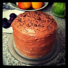 Tripple-Chocolate Layer Cake - Yum!