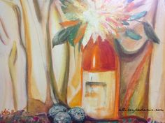 Draped Still LIfe~ orange  allisonpadams.com