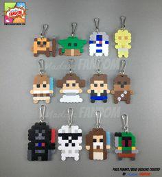 12 Star Wars favores fiesta cremallera tira llaveros Clips