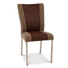 Eriksson Stainless Steel Leg Harris Tweed Highlander Smoke - Black Cerato Diamond Panel dining chair - Modish Living