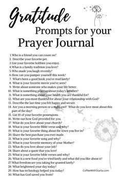 Gratitude Journaling Prompts for Your Prayer Journal ~ Coffee With Starla Gratitude Journal Prompts, Gratitude Quotes, Devotional Journal, Devotional Ideas, Bible Journal, Daily Devotional, Journal Questions, Vie Motivation, Journal Ideas