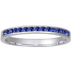 Sapphire wedding band... I am getting a ring like this, but with a few diamonds in it too :)