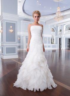 Free Shipping Hot Sale New Design 2015 Sexy Backless Strapless Sheath Slim Figure Long Ruffles Chiffon Girls Wedding Party Dress