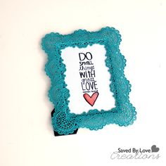 DIY inspirational artwork using stamps; takes 5 minutes (love this idea)!