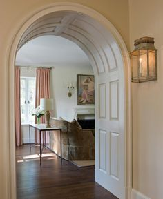 Arch for living room to hall - Anne Decker Architects Elegant Home Decor, Elegant Homes, Cheap Home Decor, Architecture Details, Interior Architecture, Interior And Exterior, Amazing Architecture, Arch Doorway, Unique House Design