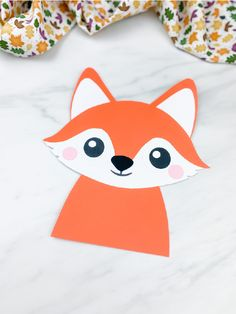 This paper fox craft is super easy and fun to make! Download the free printable template and make with kids at home or at school! It's great for fall or forest animal themes! #simpleeverydaymom #prek #prekindergarten #kidscrafts #fallcrafts #foxcrafts Forest Animal Crafts, Animal Crafts For Kids, Forest Animals, Pre K Activities, Animal Activities, Raccoon Craft, Animal Themes, Fox Crafts, Fall Preschool