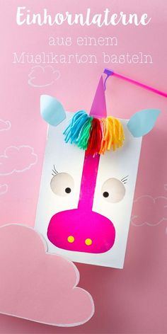 I'm totally excited. For a few weeks you can finally buy my lantern book. Fortunately, we are still a few months away from St. Martin, but I can show it to you anyway … - Diy Kids Crafts Diy Niños Manualidades, Unicorn Crafts, Crafty Kids, Kids Corner, Unicorn Birthday, Fall Crafts, Diy Crafts For Kids, Activities For Kids, Paper Crafts
