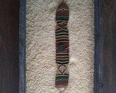 Macramé bracelet with brass
