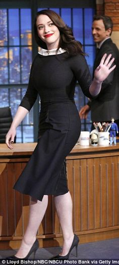 Kat Dennings gushes over boyfriend Josh Groban on Late Night with Seth Meyers   Daily Mail Online