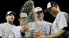 For Old Times' Sake: The Core Four get together for their 5th World Series ring as teammates. (Getty Images)