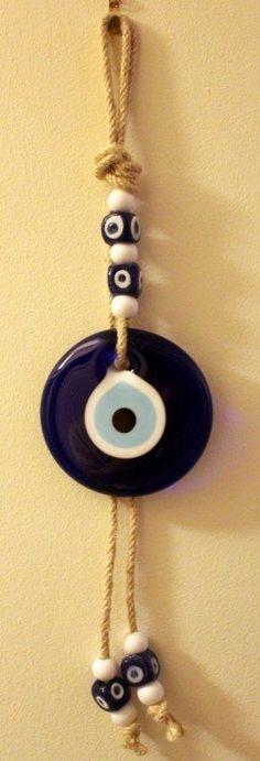 Hand Made Turkish Evil Eye Lucky Pendant Charm Nazar Boncugu Wall/Door Hanging