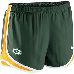 Women's Nike Green Bay Packers Tempo Short - NFLShop.com