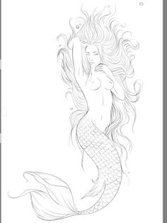 Art Drawings Sketches, Tattoo Sketches, Tattoo Drawings, Mermaid Artwork, Mermaid Drawings, Mermaid Tattoo Designs, Mermaid Tattoos, Body Art Tattoos, Sleeve Tattoos