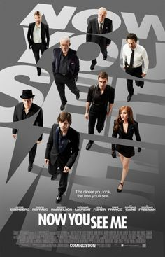 Check out the poster for the illusionist thriller Now You See Me starring Jesse Eisenberg, Isla Fisher, Mark Ruffalo, Woody Harrelson and Morgan Freeman. Insaisissable Film, Bon Film, Film Serie, Mark Ruffalo, Films Hd, Hd Movies, Movies Online, Watch Movies, Movies Free