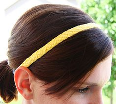 DIY Jersey woven headbands out of recycled t-shirts!