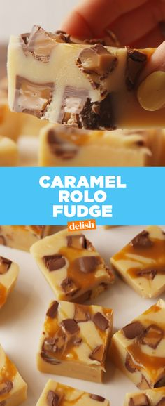 Caramel Rolo Fudge is #dessertgoals. Get the recipe from Delish.com.