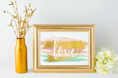 Love Gold Foil Printable Motivational by 1623Printables on Etsy