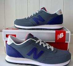 NIB! Mens NEW BALANCE 501 Sneakers 9.5 D MEDIUM Gray BLUE Shoes RUNNING Fashion #NewBalance #AthleticSneakers