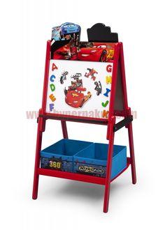 Úžasná tabuľa Cars učaruje všetkým fanúšikom tejto populárnej rozprávky. Obojstranná detská tabuľa s motívom Cars je vyrobená zo silného a odolného dreva. Z jednej strany má povrch klasickej školskej tabule az druhej strany je tabuľa magnetická.Súčasťou tabule sú magnety puzzle a magnety s abecedou.Pod tabuľou sú dva látkové koše, kde si môže vaše dieťa uložiť všetky kriedy, fixky, magnetky a svoje umelecké diela.Výrobok je vhodný pre deti od 3-8 rokov.rozmery: - Dĺžka - 52.07 cm - Šírka…