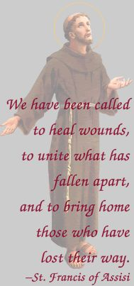 "Quote of the Day – June 25 #pinterest ""We have been called to heal wounds, to…"