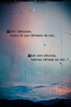 Allah sevsin/bilsin yeter. #tasavvuf