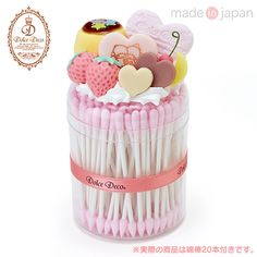 Little Twin Stars × Dolce Deco Swab Case Pudding Pink ❤ Sanrio Made in Japan   eBay
