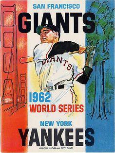 1962 World Series - San Francisco Giants vs. New York Yankees #Baseball #WorldSeries #Vintage