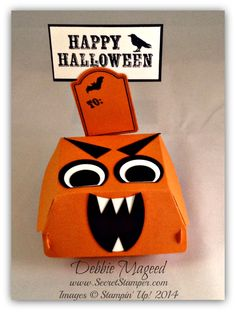 Hamburger Box Die, October Paper Pumpkin