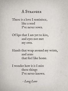 lovely words by Lang Leav
