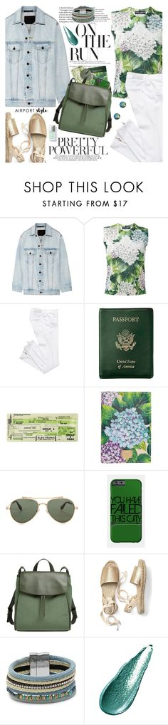 """Jet Set: Airport Style"" by martinabb ❤ liked on Polyvore featuring Alexander Wang, Dolce&Gabbana, Royce Leather, Givenchy, Skagen, Design Lab and Giorgio Armani"