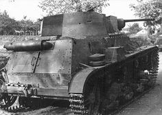 Warsaw 1939, Polish Army.  7TP tank. Made in Poland. Armor:17mm Primary armament:1×37 mm Bofors wz. 37 Secondary armament:1×7.92 mm Ckm wz.30. Speed:37 km/h Number of tanks (production 1935-1939):155. Crew: 3 (commander, gunner, driver). Weight 9.9 tonnes.Operational range:160km (130 km off-road).
