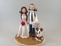 Wedding Cake Topper  Bride & Groom Customized Hiking Theme